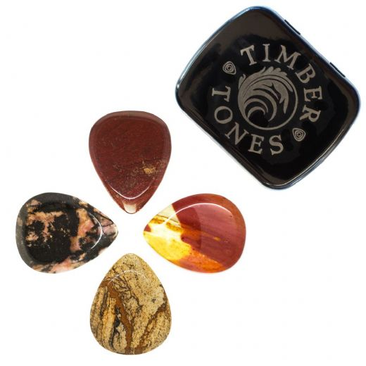 Jasper Tones Mixed Tin of 4 Guitar Picks